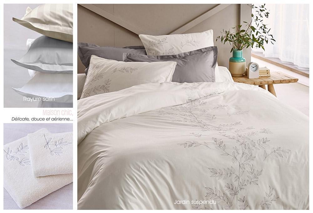 linge de lit sylvie thiriez au lit. Black Bedroom Furniture Sets. Home Design Ideas