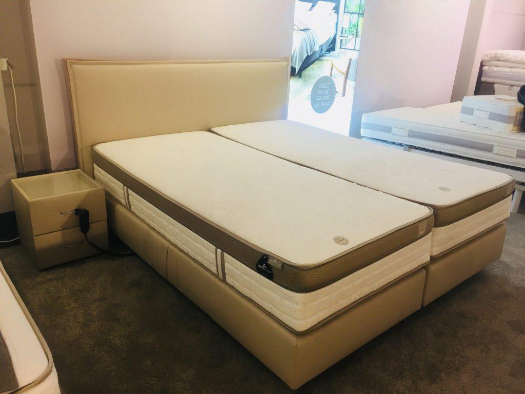boxspring beka hommage electrique au lit. Black Bedroom Furniture Sets. Home Design Ideas